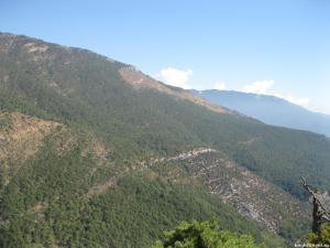 Красивый вид с горы