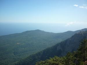 Красивый вид гор Ялты
