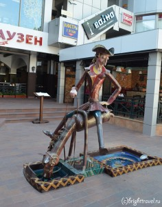 Мюнхаузен скульптура-фонтан Сочи