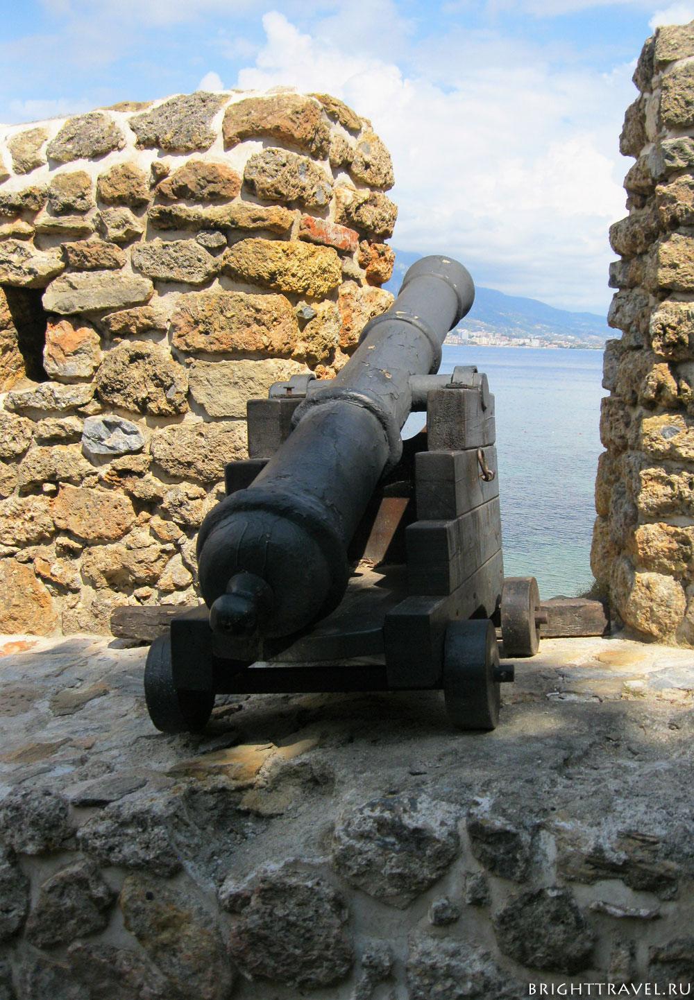 Крепость Аланьи пушка