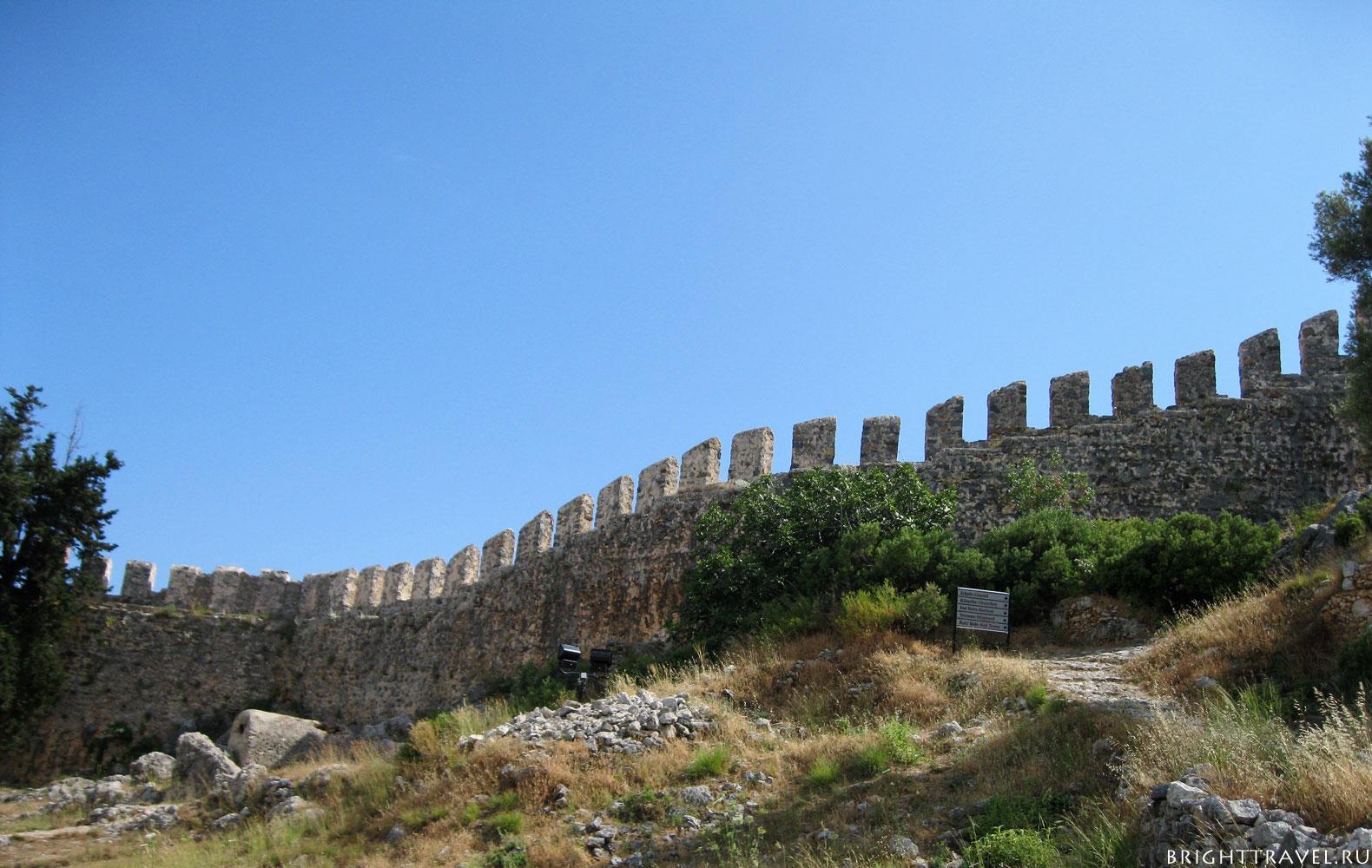 Крепость Аланьи стена