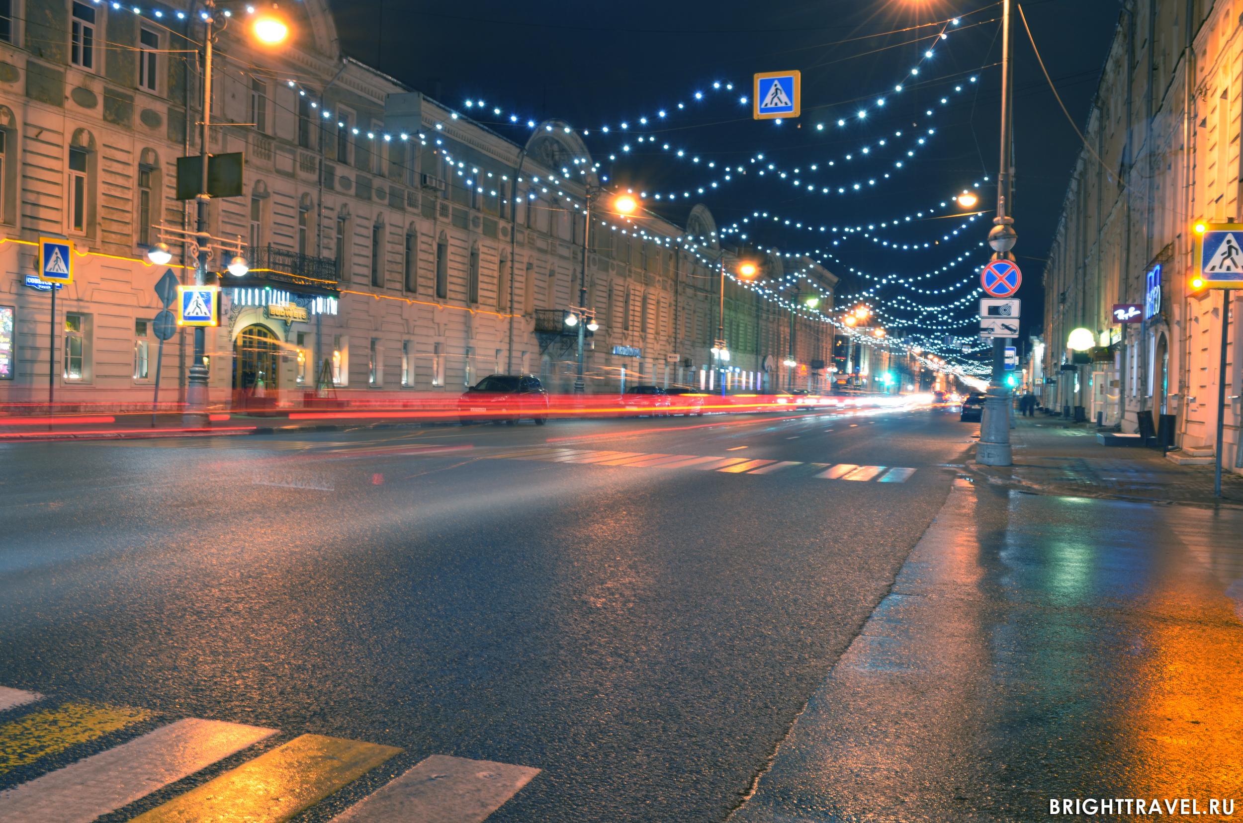 Вечерняя Тверь фото - перекресток ул. Советской и Свободного пер.
