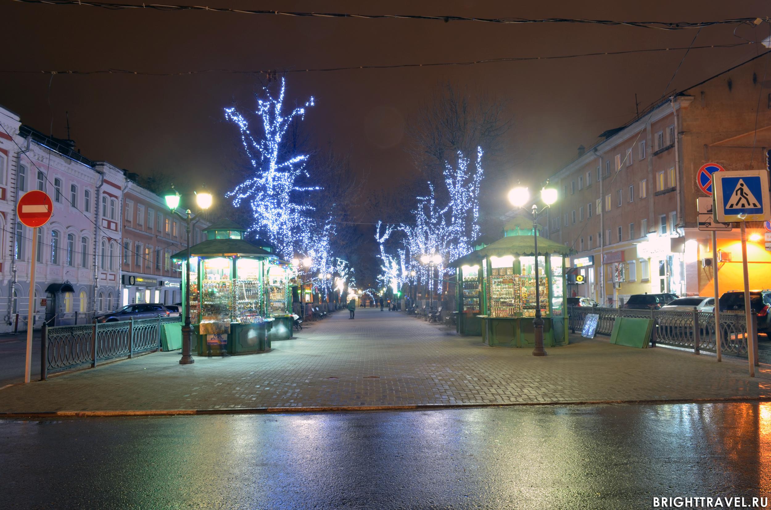 Вечернее фото - бульвар Радищева в Твери