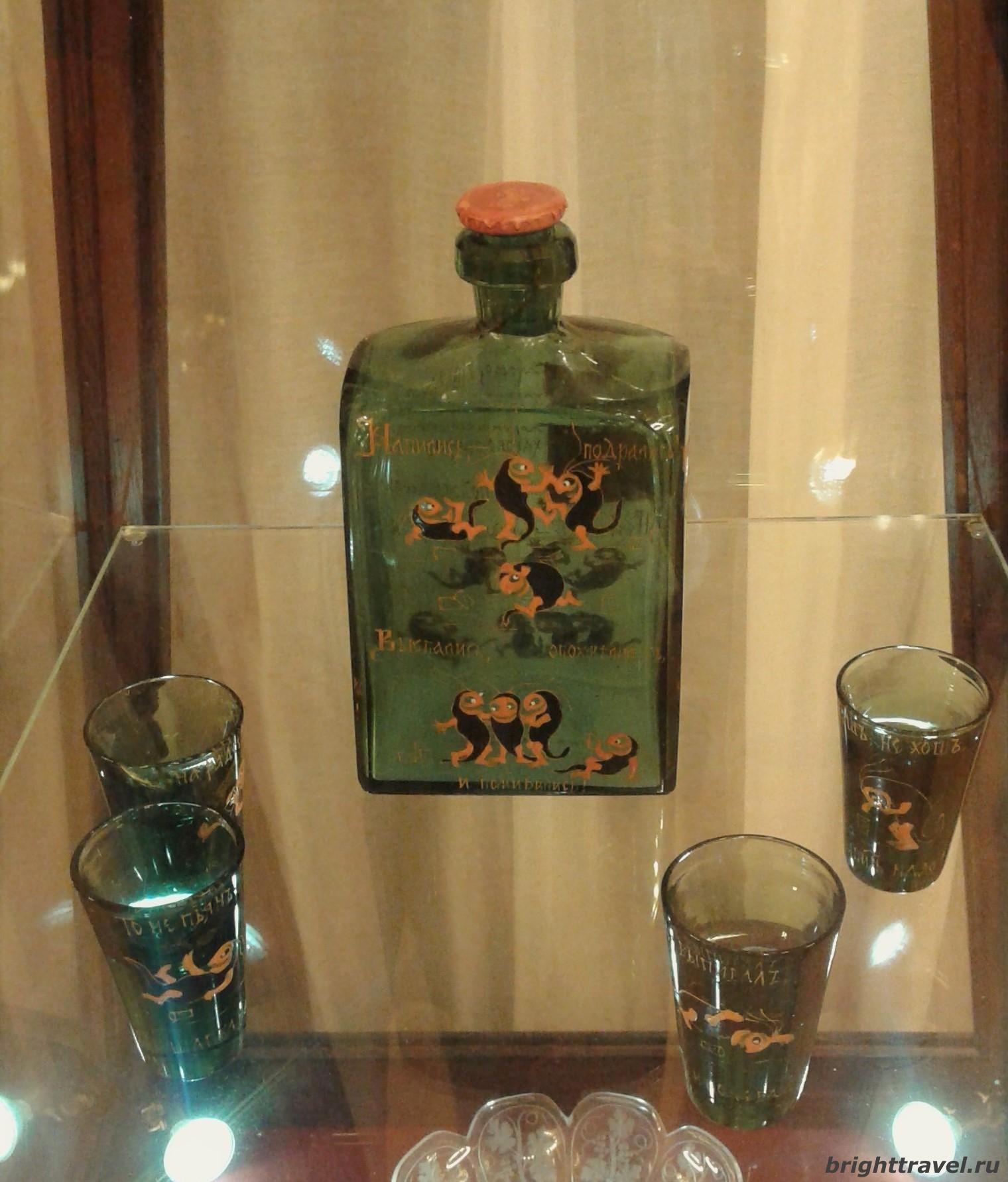 Фото комплекта для крепких напитков, конец XIX в. в Императорском дворце Твери