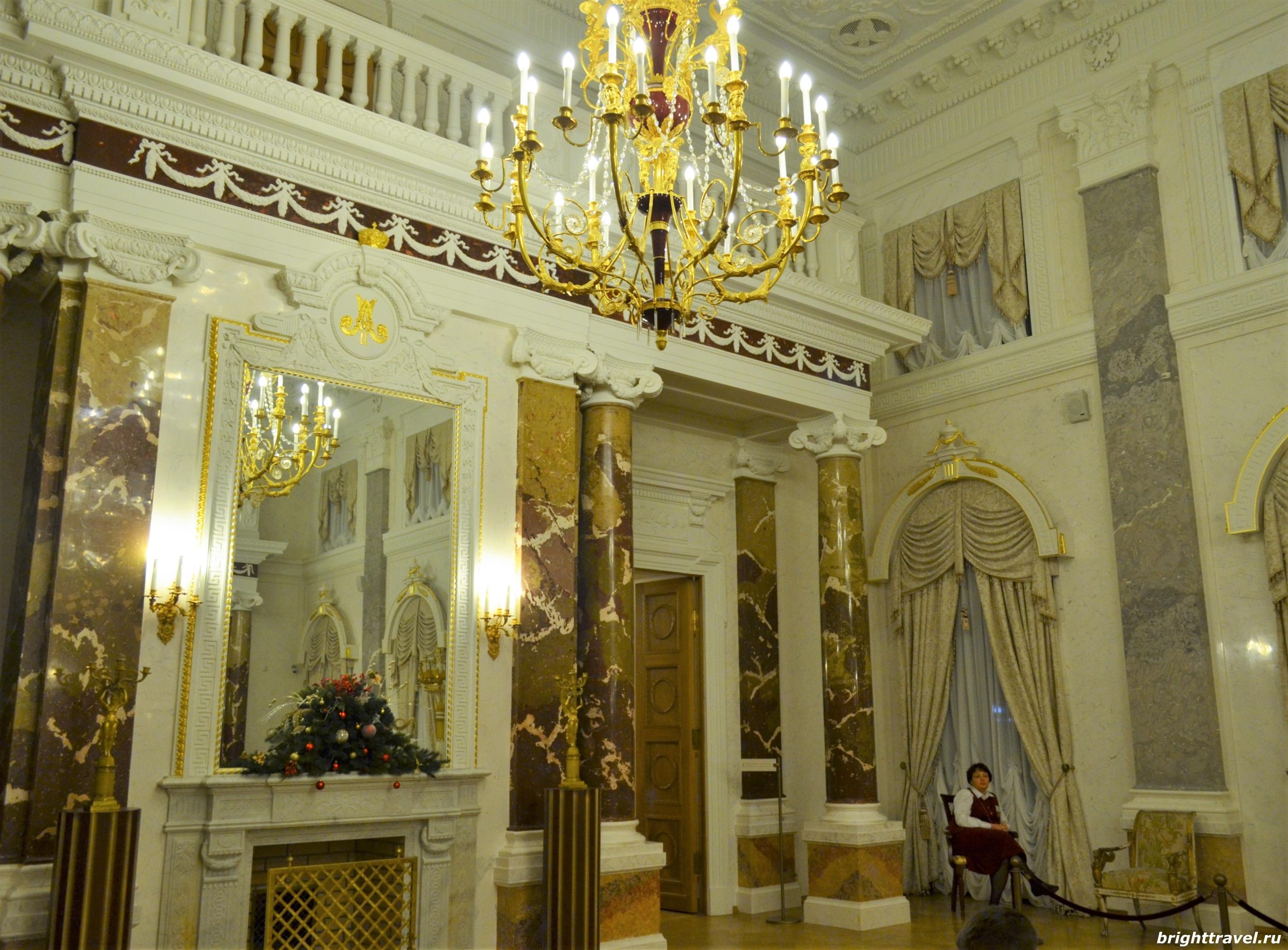 Фото парадного зала Императорского дворца Твери