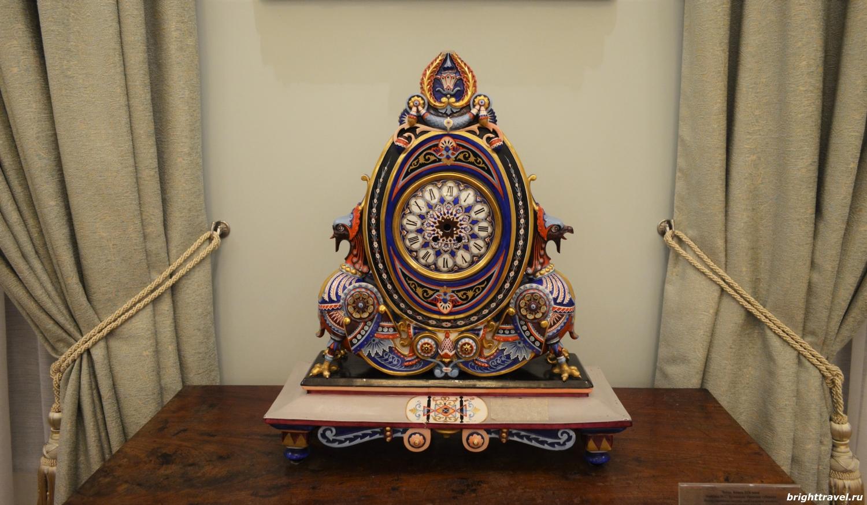 Фото часов, конец XIX в. в Императорском дворце Твери