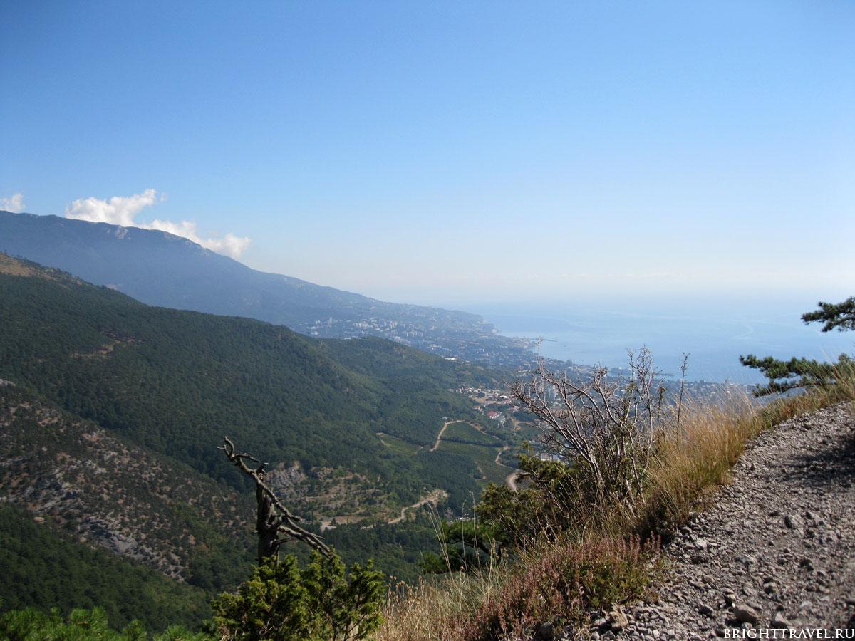 Фото с высоты горной тропы