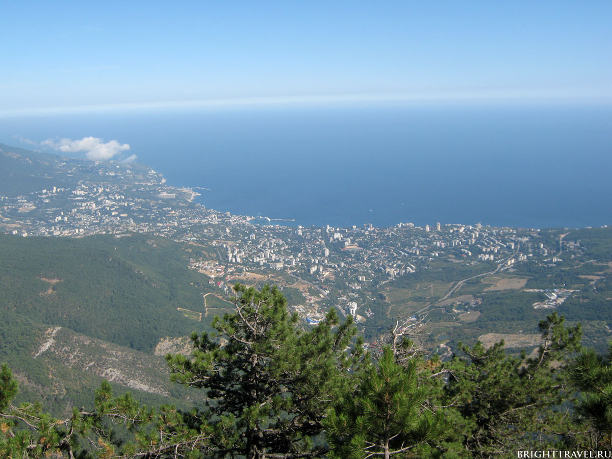 Фото Ялты с высоты горной тропы