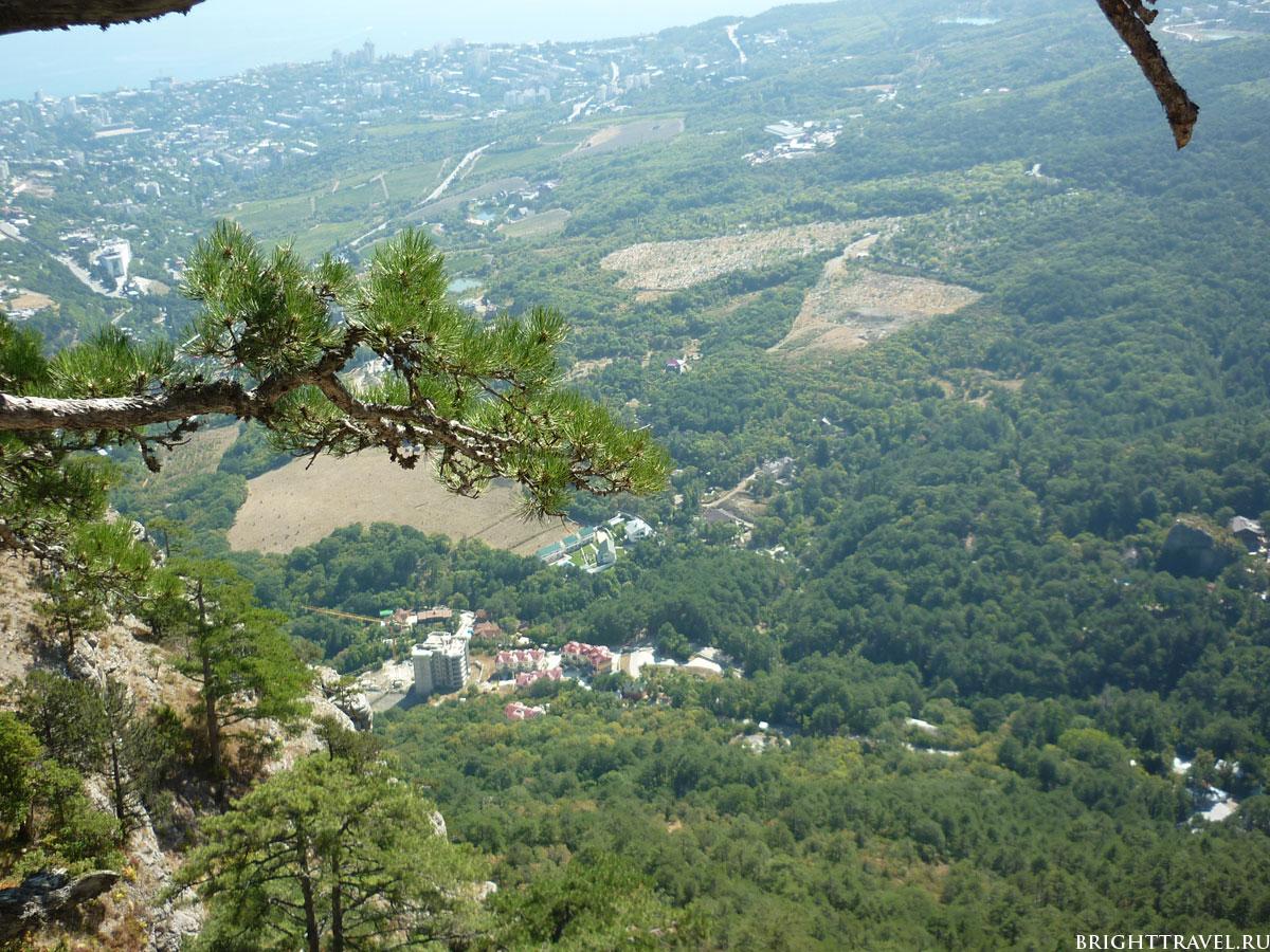 Вид с высоты Ай-Петри