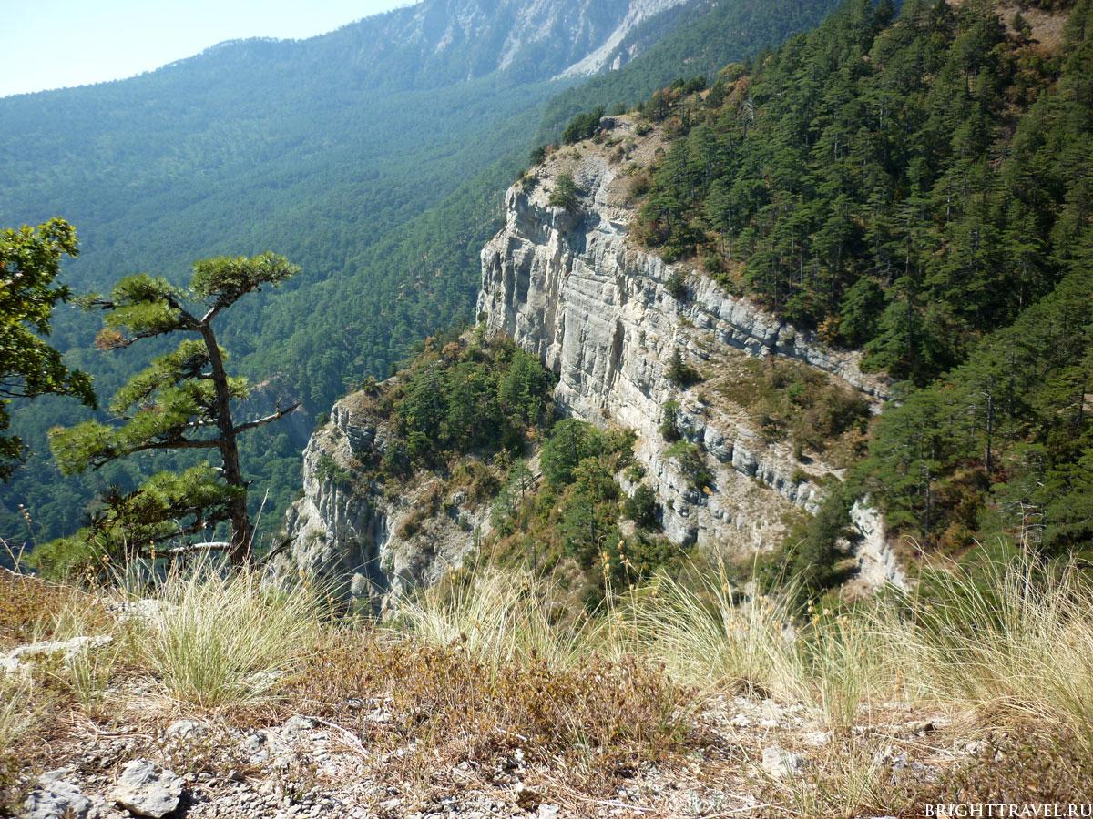 Фото гор недалеко от Ялты