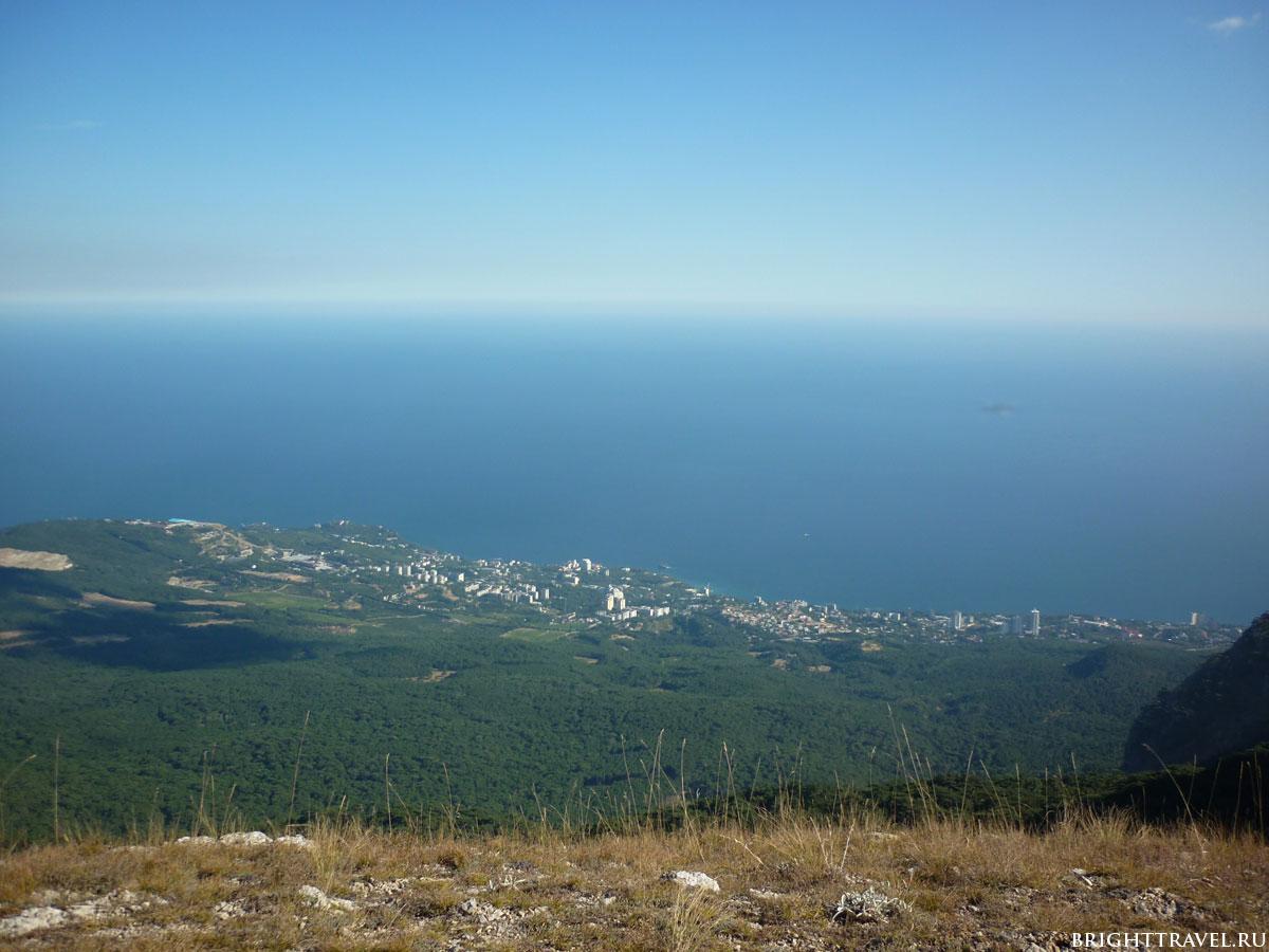 Вид с горы вблизи Ай-Петри